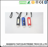 3V УДАР СИД предупреждая электрофонарь USB Keychain перезаряжаемые миниый
