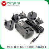 Adaptador de corriente 24V1.5A AC / DC con Jp Cn enchufes intercambiables con nosotros Au Reino Unido de la UE