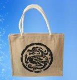 Модная синтетическая хозяйственная сумка кожи и Tote джута материальная