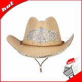 Sombrero de la mujer del sombrero de paja del sombrero de vaquero