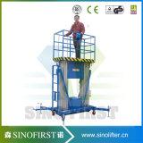 aufrechte Arbeits-Aufzug-Plattform-kleiner Mann-Aufzug der Aluminiumlegierung-10m