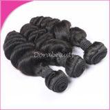 波のバージンのモンゴル加工されていないRemyの毛のよこ糸を緩めなさい
