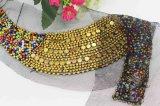 Шарик цветастого шнурка кристаллический шьет на кристаллический Neckline Rhinestone (TA-006)