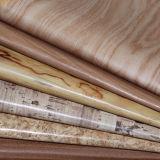 Neuestes hölzernes Korn halb PU-Leder für Polsterung, Handtaschen, Notizbuch-Deckel
