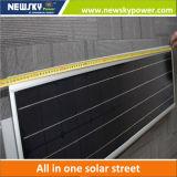Luz de rua solar integrada de 60W com bateria Painel solar