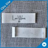 綿のTシャツのための純粋な白いですかクリーム色の綿のサイズの洗濯できるラベル