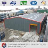 プレハブの軽い金属フレームの構造の倉庫