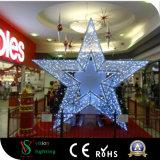 Luzes decorativas da estrela do diodo emissor de luz da alameda de compra do Natal