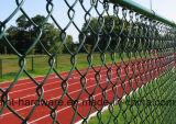 PVC покрыл загородку звена цепи используемую для земли спортов