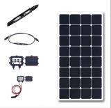 2017 RVの海兵隊員のホームのための高性能100Wの適用範囲が広い太陽電池パネル