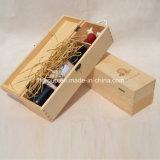 Коробка вина классической конструкции крышки Siliding восхитительная деревянная