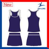 Ensembles de veste de vêtements de tennis Sublimation pas cher à dames avec jupe