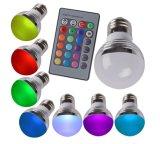 Der RGB-LED Feiertags-Lichter Fernsteuerungsfarben-ändernde Birnen-E27 E14 B22 GU10 MR16 Gu5.3 für Partei-Lampen