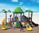 Verwendetes Kind-im Freien Plastikspielplatz-Gerät