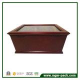 Casella di legno di lusso della penna della visualizzazione della fontana con il cassetto