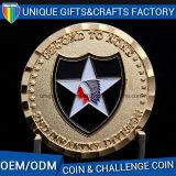 Moneta di sfida del metallo con l'incisione su ordinazione di marchio