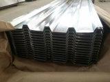 Hoja de metal acanalada galvanizada del material para techos de la hoja de acero de carbón