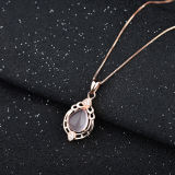 Collana Pendant Amethyst naturale popolare dell'argento sterlina delle donne con la catena