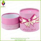 素晴らしい一見ピンクの包装のペーパーシリンダーギフト用の箱