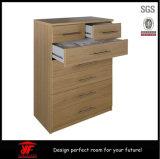 7 Fach-eindeutige Auslegung-malaysisches hölzernes Möbel-Wand-Schrank-Schlafzimmer neben Tabelle