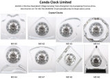 Horloge mécanique en cristal de Tableau de mode
