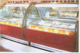 Congelador do armazenamento do indicador do gelado de Gelato com as 6 bandejas do aço inoxidável (WDB-V6)