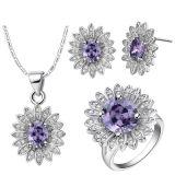 ювелирные изделия диаманта белого золота 18k установили серебряные ювелирные изделия 925