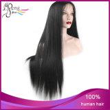 Perruque de lacet de cheveux humains de 100% pleine