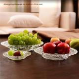 De duidelijke Plaat van het Diner van het Fruit van het Glas/de Plaat van het Glas/de Plaat van de Decoratie