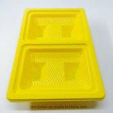 Bandeja del caso del PVC del regalo del empaquetado plástico para la ensalada