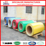 El color de Ral cubrió las bobinas de acero materiales Z40-Z275 PPGI de Dx51d