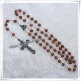 Rosary стеклянных бусин, вероисповедный Rosary отбортовывает (IO-cr289)