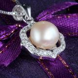 Collana di qualità superiore del pendente dell'argento sterlina della perla d'acqua dolce delle donne