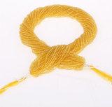 원석 자연적인 석영 느슨한 물가는 부피에 있는 귀여운 크기 2mm 3mm 밝은 노란색 수정같은 구슬을 도매한다