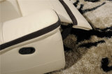 Sofa de salle de séjour avec le sofa moderne de cuir véritable réglé (443)