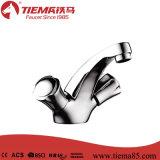 Misturador de bronze da bacia do punho da alta qualidade dois (ZS64103A)