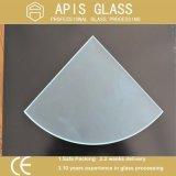 8mm 1/4 mur d'étagère en verre Tempered de cercle