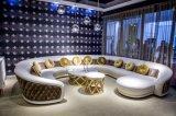 Couro italiano luxuoso e sofá de canto misturado da tela (B31)