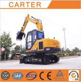Excavador hidráulico de múltiples funciones de la retroexcavadora de la correa eslabonada de CT85-8A (8.5T)