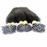 100%の実質の人間の毛髪の棒のPrebondedの毛の拡張は毛を私ひっくり返す