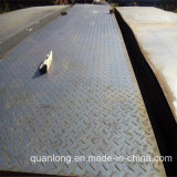 Peso Chequered da placa de assoalho do carbono de Q235 Ss400 A36 S235jr