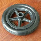 6X2 6X1 6X1.5 휠체어 단단한 고무 폴리우레탄 거품 타이어 타이어 & 바퀴