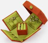Caja de joya del anillo del paño, caja de almacenaje de madera, caja de papel del collar, caja de regalo de la moneda, caja de cuero de la joyería, caja de reloj (002)