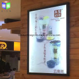 Panneau de publicité ultra-mince de signe du cadre de tableau DEL