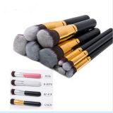 10PCS Goldfarbe Alumunium Soem-Faical kosmetisches Pinsel-Set für Verkauf