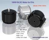 48V motor eléctrico del coche, motor de 10kw BLDC con ventilador refrigerado