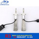 Jogo quente do bulbo do farol do diodo emissor de luz do Sell 8-48V 40W 4000lm H4 R3, farol do carro H4, farol do carro H4