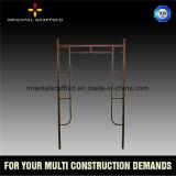 Sistema modular del marco del andamio de la construcción