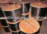 Câble d'acoustique de connecteur de câble de transmission de câble de caractéristiques de câble de câble/ordinateur de fil de baisse de 2 faisceaux