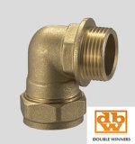 Codo apropiado CxC de la compresión de cobre amarillo